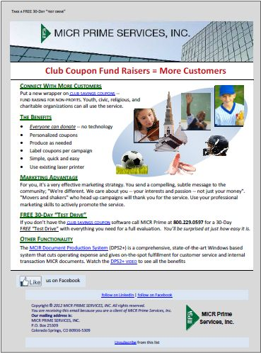ClubCouponFundRaisers